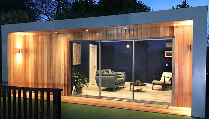 Garden rooms architecturally designed garden rooms for Garden office cube
