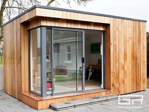 Garden rooms designs cube 17 home office solutions for House plans with garden room