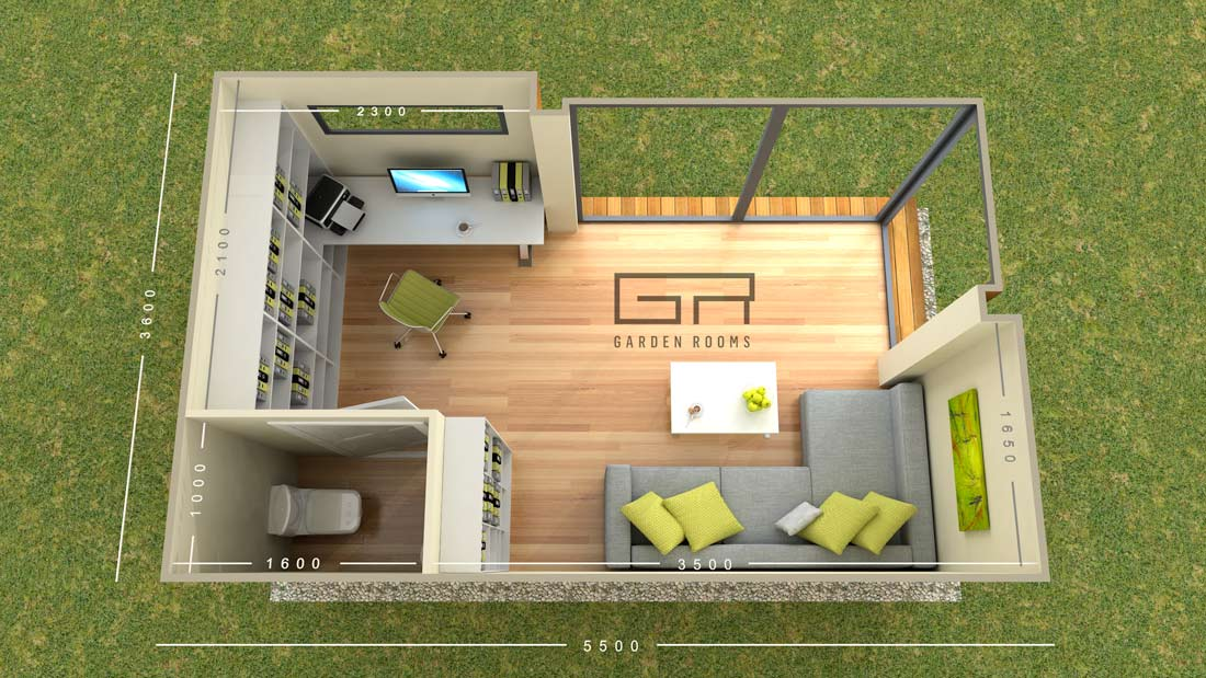 Garden rooms designs cube 20 home office solutions for Garden space planner