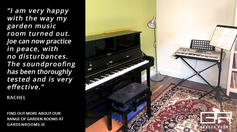 Music Room in a Garden Room - Testimonial - Garden Rooms Dublin