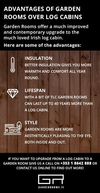 Advantages of Garden Rooms Over Log Cabins