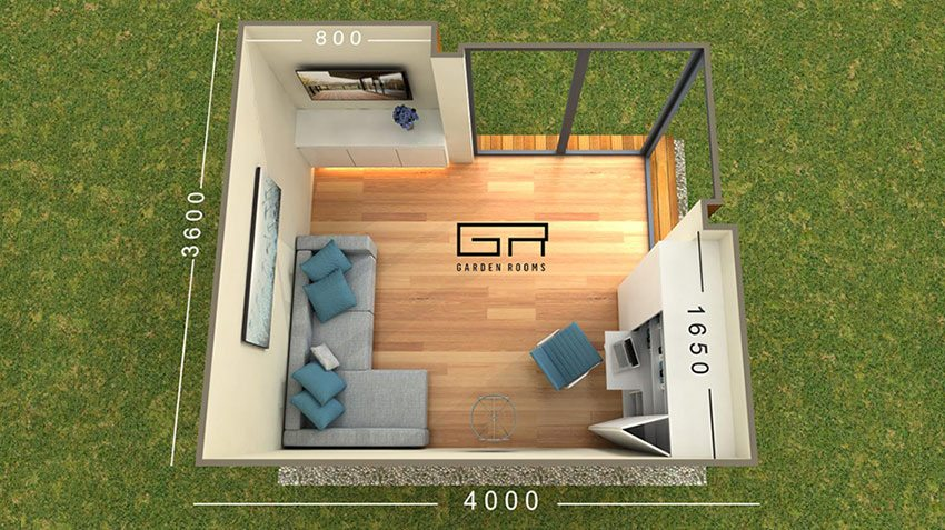 CUBE 15 Floor Plan - Garden Rooms CUBE Range