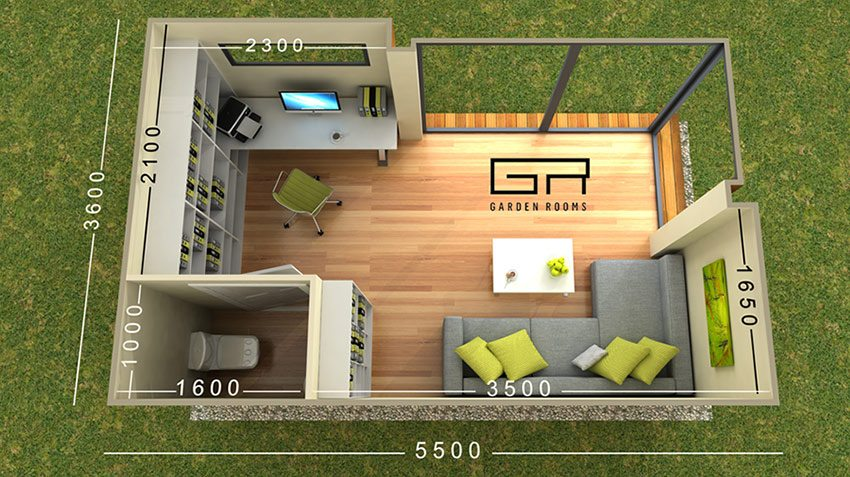 CUBE 20 Floor Plan - Garden Rooms CUBE Range