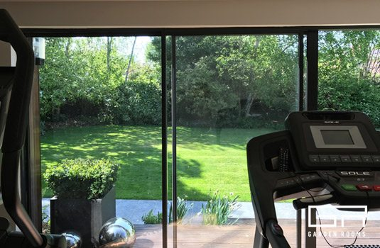 Garden Room Home Gym in Rathmines - Garden Rooms Case Study