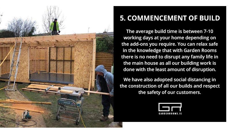 Garden Rooms - Commencement of Build - Ireland