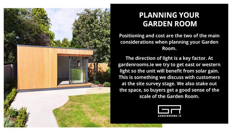 Planning Your Garden Room - Sun Benefits - Ireland