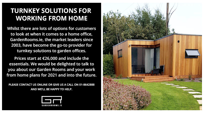 Turnkey Solutions Working From Home - GardenRooms Dublin